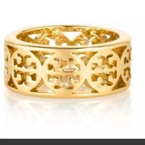 Tory Burch Gold Kinsley Sz 6 ring